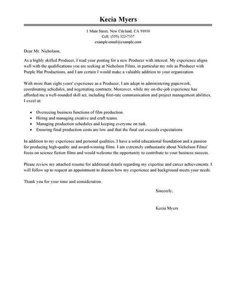 Cover Letter Internship Music Industry