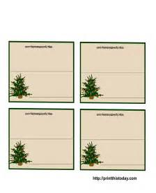 Free Printable Christmas Table Place Cards