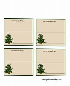 free printable christmas table place cards template With table placement template