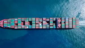 Ultra Large Container Vessel (ULCV) At Sea - Aerial ...
