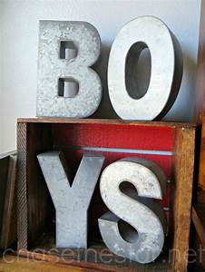 diy wood crate bookcase With galvanized metal letters michaels