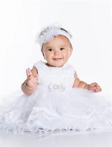 Baby girls white Christening Dresses | Baby Girls Lace ...