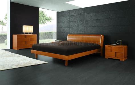 cherry finish modern bedroom set  basketwave illusion