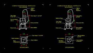 Manual Hydraulic Compactor In Autocad
