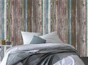 Planche De Bois Vieilli : les papiers peints trompe l il boostent nos murs elle d coration ~ Mglfilm.com Idées de Décoration
