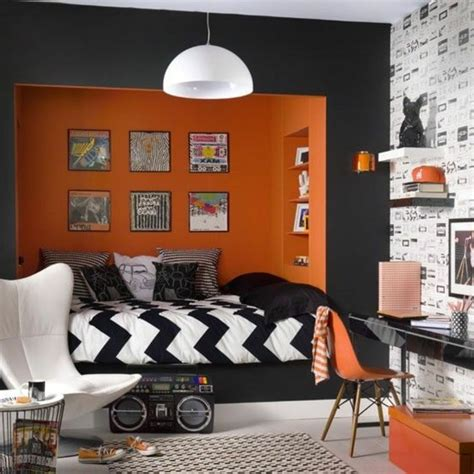 chambre orange deco chambre ado garcon orange 044820 gt gt emihem com la