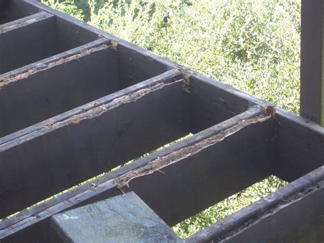 Deck Joist Cover by Cantilever Deck Construction Repair Issues By Bay Area