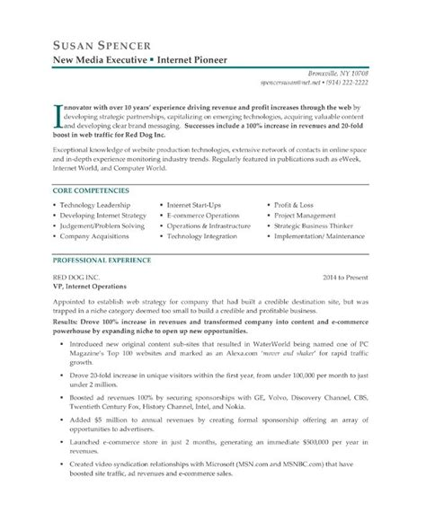 View Resumes For Free by New Media Executive Free Resume Sles Blue Sky Resumes