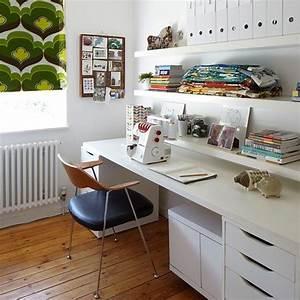 Büro Zu Hause Einrichten : wohnideen arbeitszimmer home office b ro wei b ro zu hause mit retro blind bastelzimmer ~ Markanthonyermac.com Haus und Dekorationen