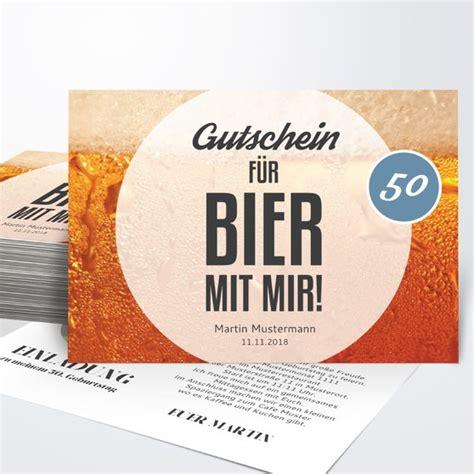 geburtstagseinladungen gutschein bier detail