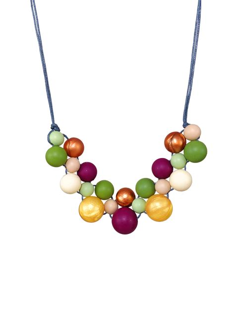 Silicone Necklace - Mustard Burgundy Lint - Kodes