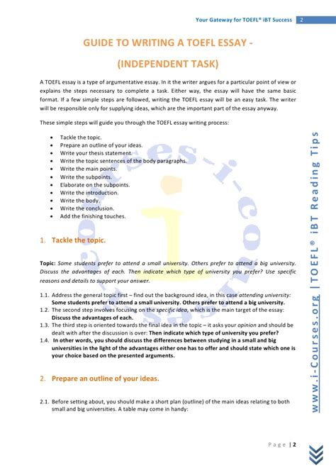toefl writing template independent essays in toefl toefl writing tutorial testden