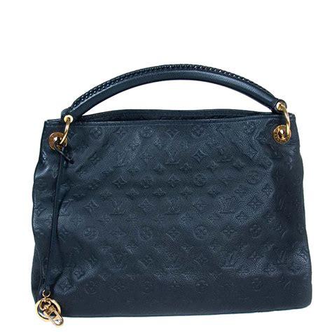 louis vuitton navy blue monogram empreinte leather artsy mm bag  luxury bargain aus