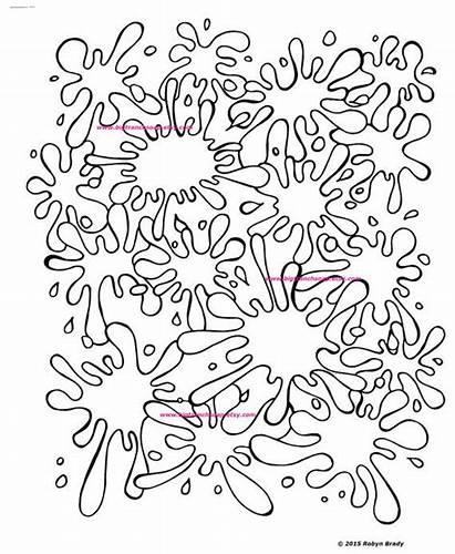 Paint Coloring Splatter Pages Splat Printable Splash
