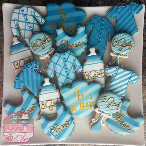 Cookies For Baby Boy Shower by Cakes Amp Cookies By Clau Custom Hand Decorated Cookies