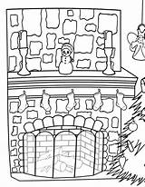 Fireplace Coloring Fireplace1 sketch template