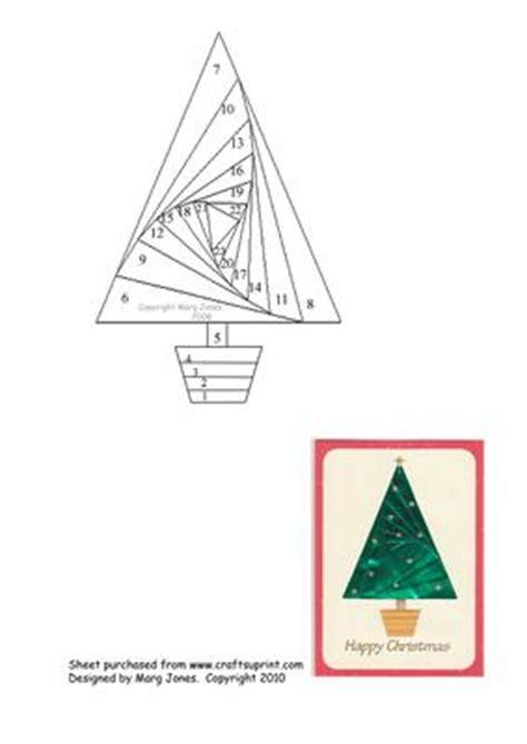 christmas tree iris folding pattern cup
