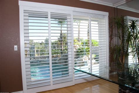 sliding door shutters exterior plantation shutters for sliding glass doors