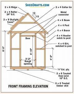 8 U00d710 Garden Shed Plans  U0026 Blueprints For Building A Storage