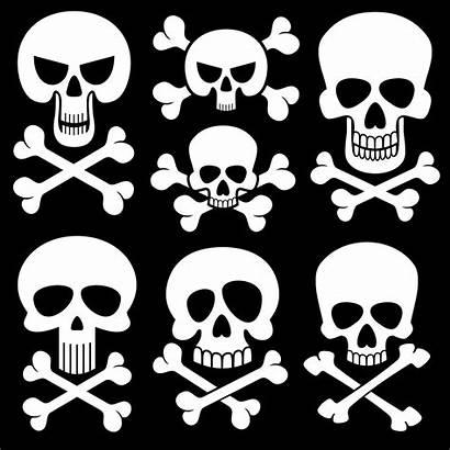 Skull Death Symbols Crossbones Vector Scary Cross