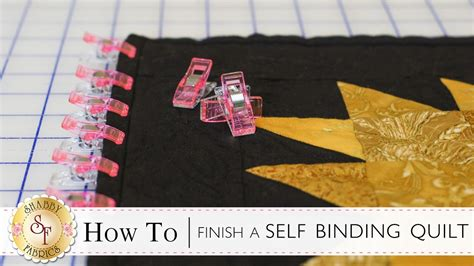 how to finish a quilt how to finish a self binding quilt a shabby fabrics