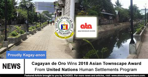 Cagayan De Oro Wins 2018 Asian Townscape Award From United