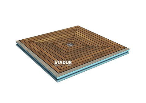 wedi plaat pdf nature board floor level shower element with teak wood