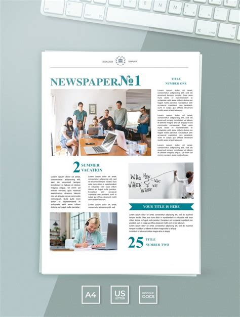 Free Editable Newspaper Template In Google Docs