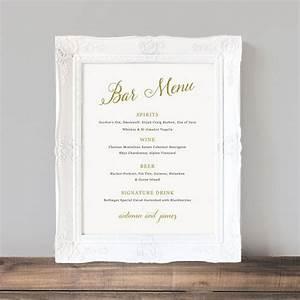 17 best ideas about wedding bar menu on pinterest bar With wedding drink menu template free