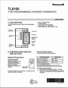 Honeywell Tl8100 Manual Pdf