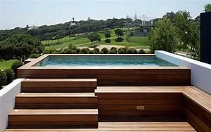 Piscine Hors Sol Bois Petite Dimension : mini piscine en bois piscine en bois exotique ~ Zukunftsfamilie.com Idées de Décoration