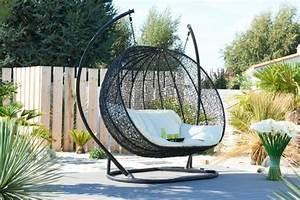 Fauteuil Cocon Suspendu : balancelle de jardin en r sine tress e salon canape fauteuil pot mobilier meubles de ~ Melissatoandfro.com Idées de Décoration