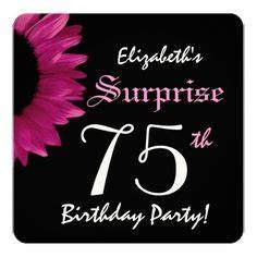 1000+ images about 75th Birthday Invitations on Pinterest ...