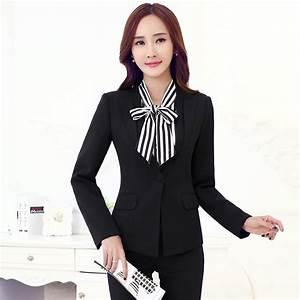 Aliexpress.com : Buy Fashion Black Blazer Women Business ...
