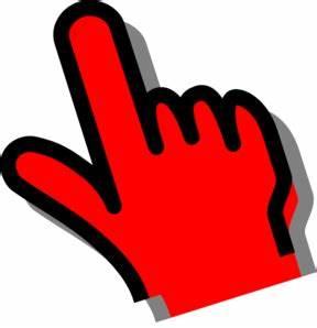 Red Hand Clip Art at Clker.com - vector clip art online ...