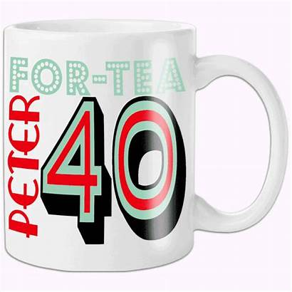 Birthday 40th Gift Personalised Gifts Mug