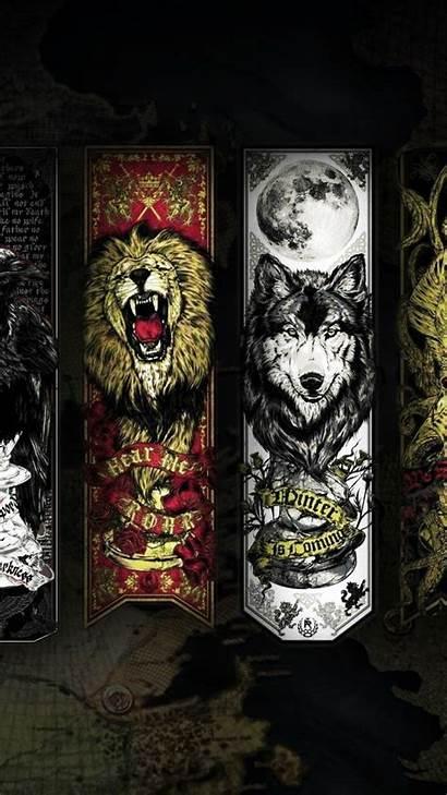 Thrones Wolf Stark Lion Lannister Android Venom