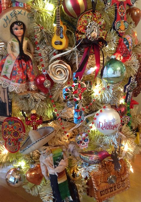 mexican christmas decorations ideas tree mexican themed tree ℭhris ⴕrees tree