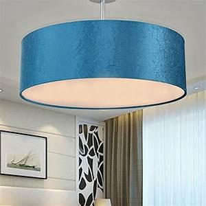 Leuchten Für Schlafzimmer : sparksor leuchten deckenleuchte in chrom matt stoffschirm ~ Lizthompson.info Haus und Dekorationen