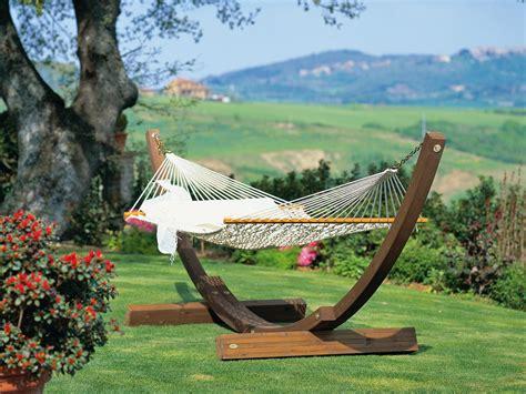 amaca in legno da giardino struttura rete amanda di teak per giardino unopi 249