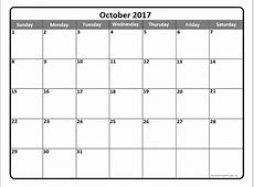 October 2017 calendar 51+ calendar templates of 2017