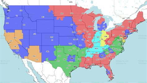 nfl week  tv coverage maps cardinalsraiders  small