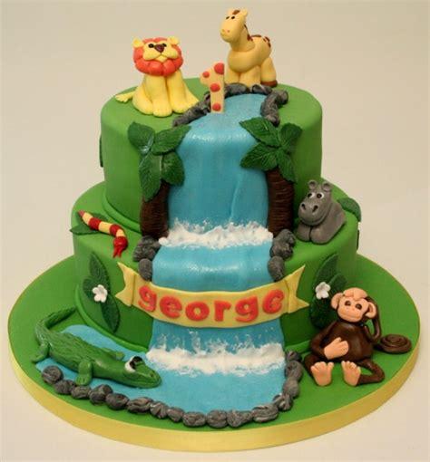 jungle birthday cake cakecentralcom