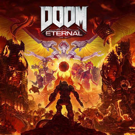 doom eternal doomguy monsters poster   wallpaper
