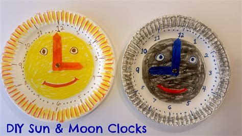 easy paper plate clock  kids great