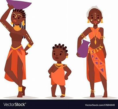 African Traditional Clothing Vector Maasai