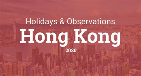 holidays  observances  hong kong