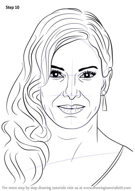 learn   draw sandra bullock celebrities step