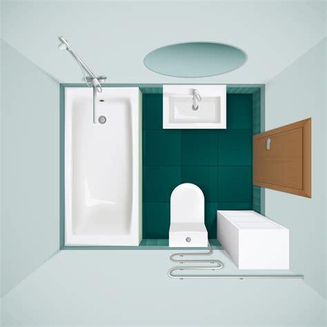 bathroom interior top view realistic image   vectors clipart graphics vector art