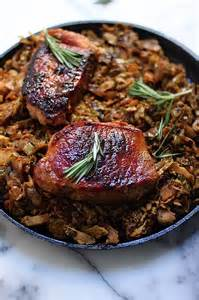 Pork Chop with Caramelized Onion and Brown Sugar